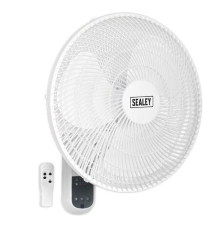 """16"""" 3-Speed Wall Fan with Remote Control 230V"""