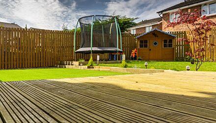 timber decking EX 38x125mm (Fin 32x120mm)-2.4m