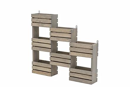 EKJU Tiered Hanging Garden Shelf Station Grey