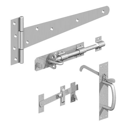 """Birkdale GATEMATE® Field Gate Side Gate Kit with Suffolk Latch & 18"""" Hinges Galvanised"""