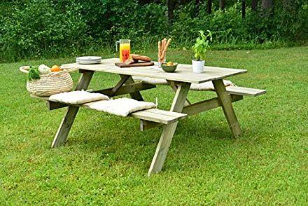 EKJU Picnic Table, Pressure Treated Green