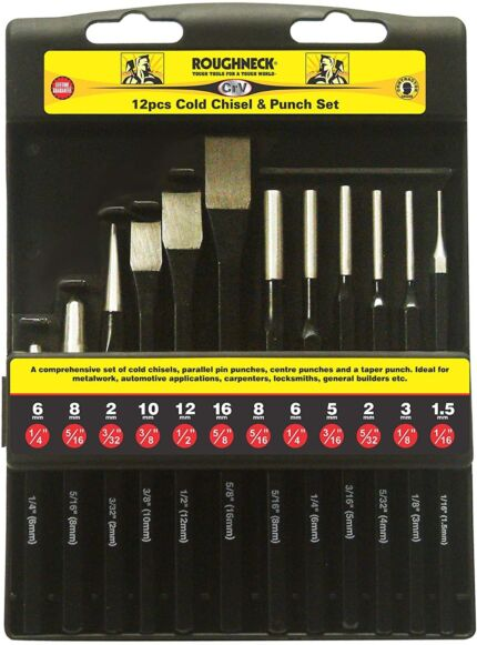 Roughneck Punch and Chisel 12 Piece Set