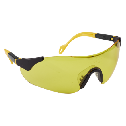 Sealey Sports Style High-Vison Safety Glasses with Adjustable Arms