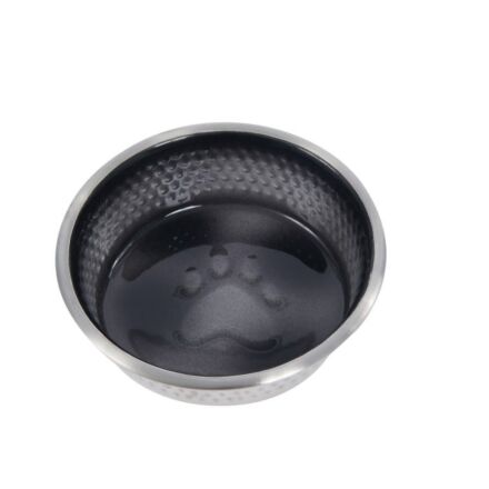 Weatherbeeta Stainless Steel Shade Dog Bowl Black 13cm