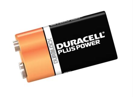 Duracell 9VK2P Alkaline Batteries (2) S3568