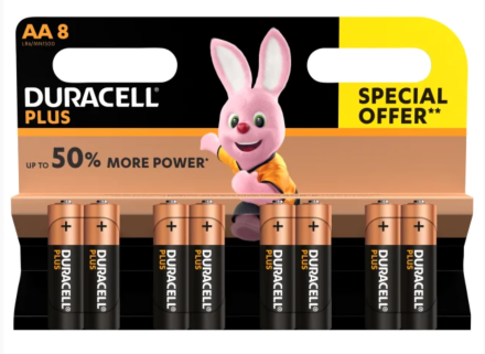 Duracell AA Special Offer Battery Pack Of 8