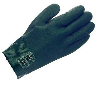 Green Dipped 10.5″ Category III PVC Gauntlet glove