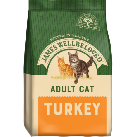 James Wellbeloved Cat Adult Turkey 10KG