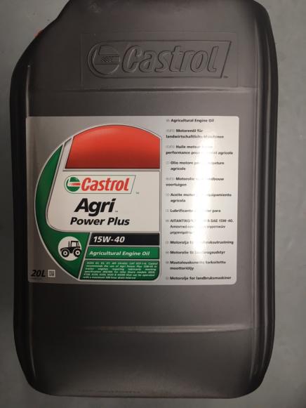 Castrol Agri Power+ Oil 15W / 40 20 litre