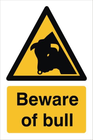 Raymac Beware of Bull Sign