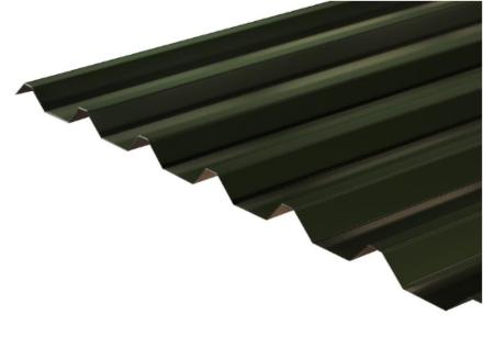 Box Profile Roofing Sheet Juniper Green