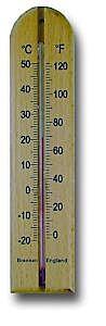 Brannan 200mm Wood Wall Thermometer