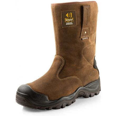 Buckler Boot Safety Rigger Boot Choc Oil Leather
