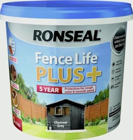 Ronseal Fence life plus Charcoal Grey 5L