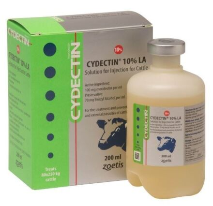 Cydectin LA 10% Cattle Injection 200ml