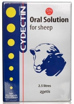 Cydectin Sheep Drench 2.5 Litre