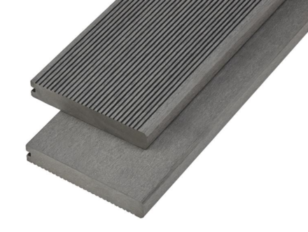 4M Composite Solid Deck Board 150mmx25mm Stone Grey