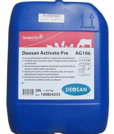 Diversey Deosan Activate AG106 Concentrate (Pre Dip) 20L