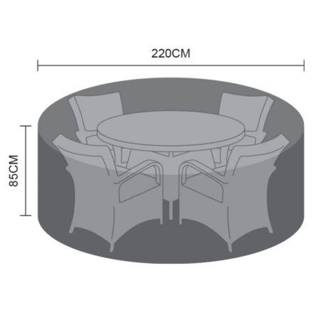 Hartman 4 Seat Round Set Cover Capri