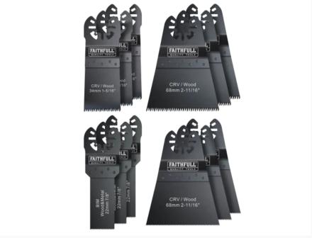 Faithfull Multi Tool Blade Set 12pc