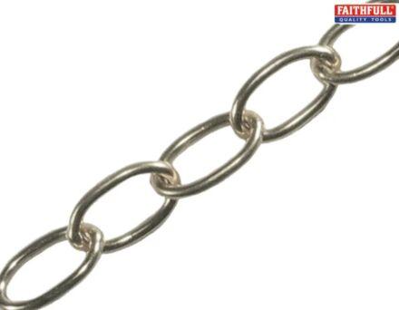 Faithfull Oval Chain Chrome 1.8mm x 1m