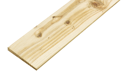 TIMBER FEATHEREDGE BOARD 10X125mm 1.8m