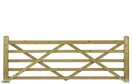 Charltons Forester 5 Bar Wooden Field Gate