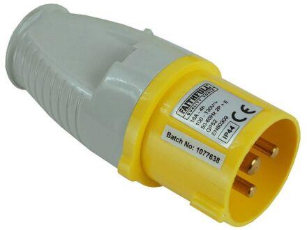 Faithfull 110 Volt Yellow Plug 16amp