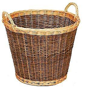 Addis Two Tone Log Basket Small