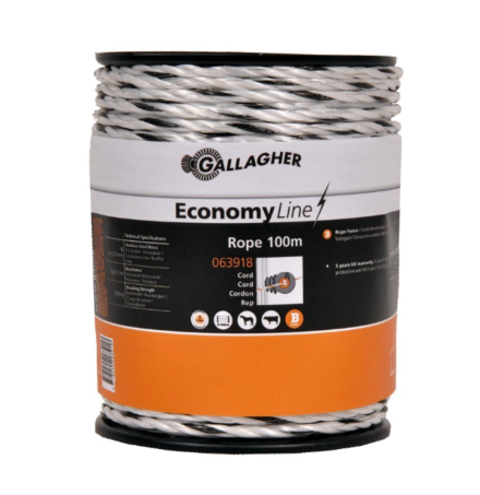 Gallagher Economy Rope 100 Meter