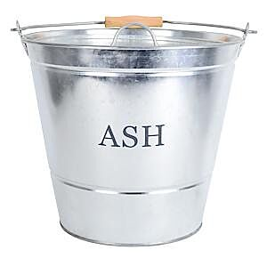 Galvanised Decco Ash Bucket With Lid