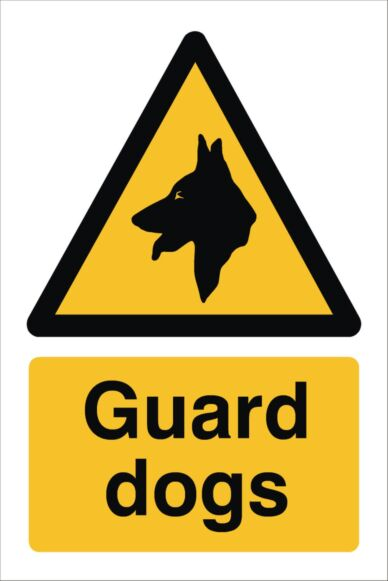 Raymac Guard Dogs Sign