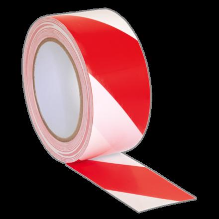 Sealey 50mm x 33m Red/White Hazard Warning Tape