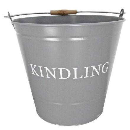 Manor Kindling Bucket Grey