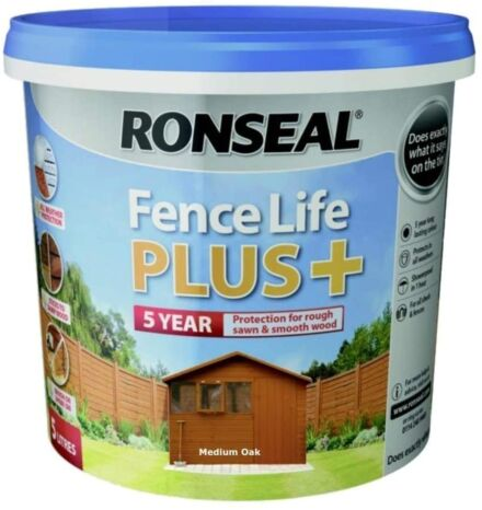 Ronseal Fence life plus Medium Oak 5L