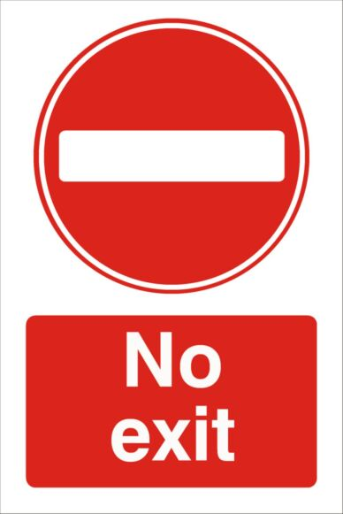 Raymac No Exit Sign