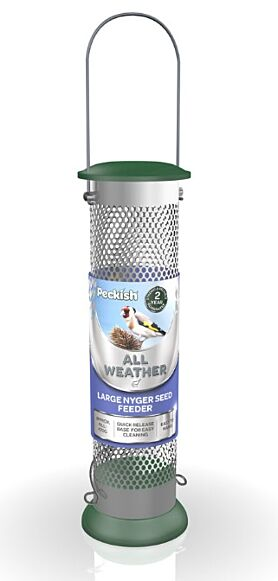Peckish All Weather Metal Nyjer Seed Bird Feeder