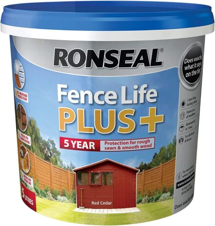Ronseal Fence life plus Cedar Red 5L