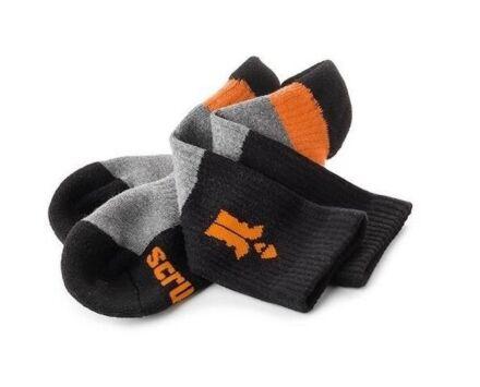 Scruffs Trade Socks 3-pack Black/Grey/Orange