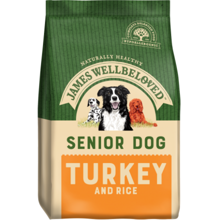 James Wellbeloved Senior Turkey & Rice Adult 15KG