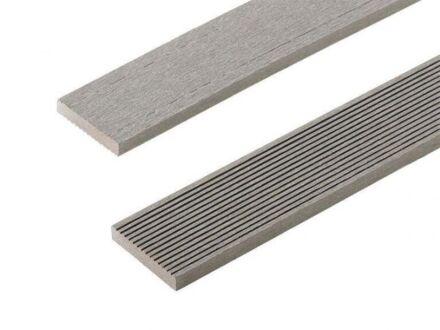 2.2m Composite Decking Skirting Trim Stone Grey