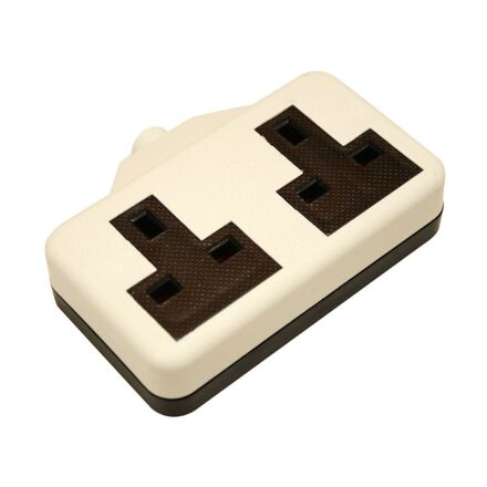 SMJ Extension Socket 13A 2 Gang White