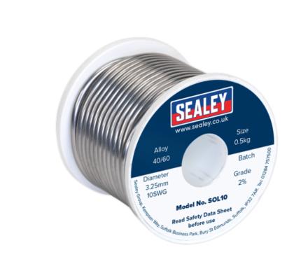 Sealey Solder Wire Quick Flow 3.25mm/10SWG 40/60 0.5kg Reel