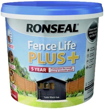 Ronseal Fence life plus Tudor Black Oak 5L