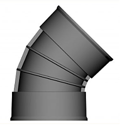 Twin Wall 45° Bend