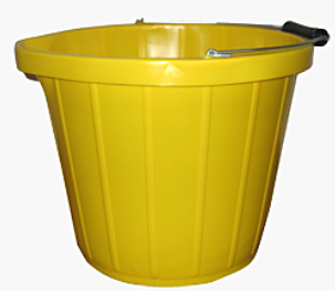 Heavy Duty Yellow Bucket 3Gal