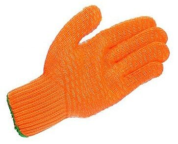 Men's Yellow Latex Criss Cross Glove