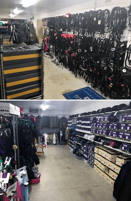 Griggs Equestrian Shop Floor